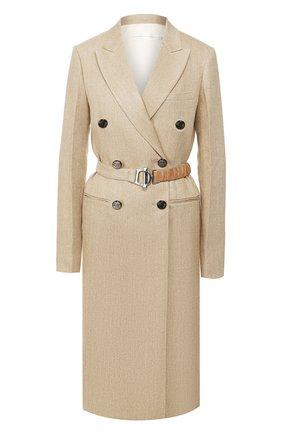 Женское льняное пальто VICTORIA BECKHAM бежевого цвета, арт. 1120WCT000578C | Фото 1