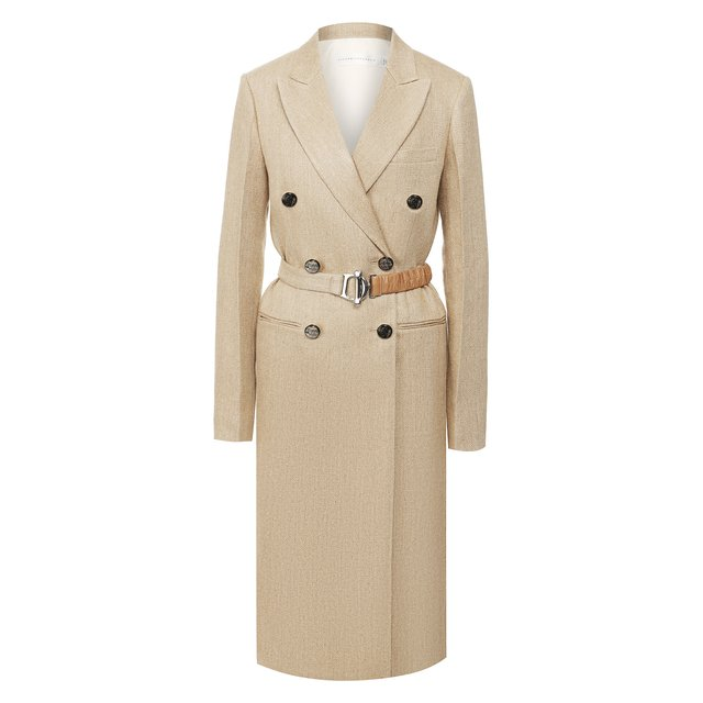 Льняное пальто Victoria Beckham