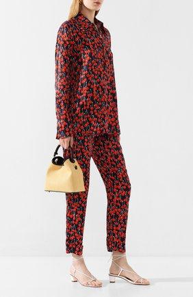 Женские брюки из вискозы VICTORIA, VICTORIA BECKHAM темно-синего цвета, арт. 2120WTR000513A | Фото 2