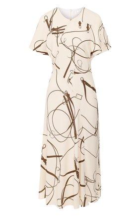 Женское платье VICTORIA BECKHAM кремвого цвета, арт. 1120WDR000806XT   Фото 1