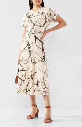Женское платье VICTORIA BECKHAM кремвого цвета, арт. 1120WDR000806XT   Фото 2