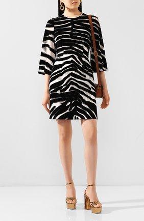 Женское платье DOLCE & GABBANA черно-белого цвета, арт. F6J1BT/FI1YE | Фото 2