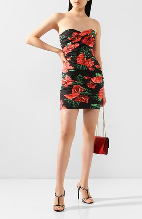 Женское хлопковое платье DOLCE & GABBANA красного цвета, арт. F6I2WT/FSEH0 | Фото 2