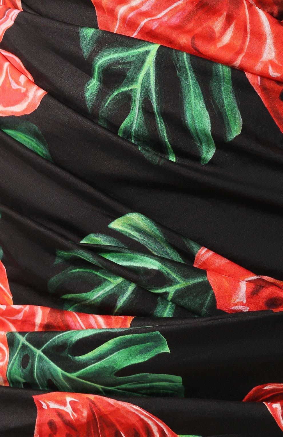 Женское хлопковое платье DOLCE & GABBANA красного цвета, арт. F6I2WT/FSEH0 | Фото 5