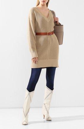 Женский пуловер BARBARA BUI бежевого цвета, арт. V4201LXA | Фото 2