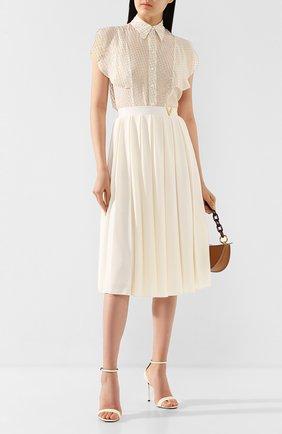 Женская шелковая блузка STELLA MCCARTNEY белого цвета, арт. 601190/S0A45 | Фото 2
