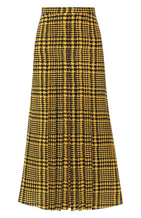 Женская шелковая юбка ALESSANDRA RICH желтого цвета, арт. FAB2060-F2806 | Фото 1