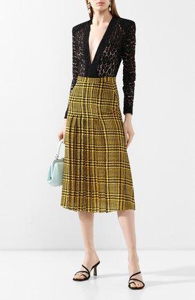 Женская шелковая юбка ALESSANDRA RICH желтого цвета, арт. FAB2060-F2806 | Фото 2