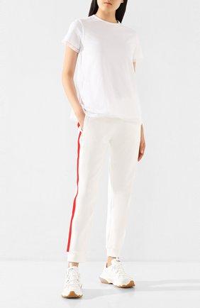 Женская футболка MONCLER белого цвета, арт. F1-093-8C735-00-V8123 | Фото 2