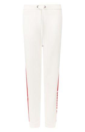 Женские хлопковые джоггеры MONCLER белого цвета, арт. F1-093-8H706-00-V8105 | Фото 1
