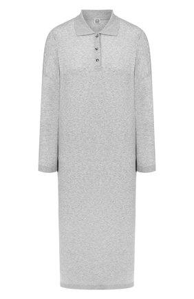 Женское платье-макси TOTÊME серого цвета, арт. BARZI0 DRESS 202-620-777 | Фото 1