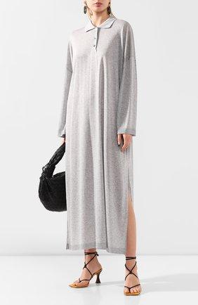 Женское платье-макси TOTÊME серого цвета, арт. BARZI0 DRESS 202-620-777 | Фото 2