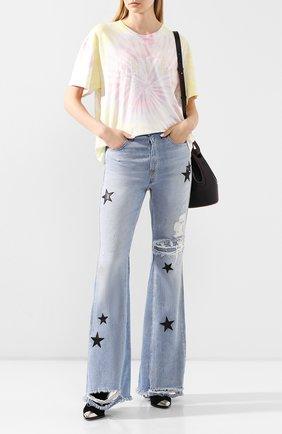 Женские джинсы AMIRI голубого цвета, арт. Y0W01406RD | Фото 2