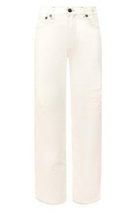 Женские джинсы R13 белого цвета, арт. R13W5083-058G | Фото 1