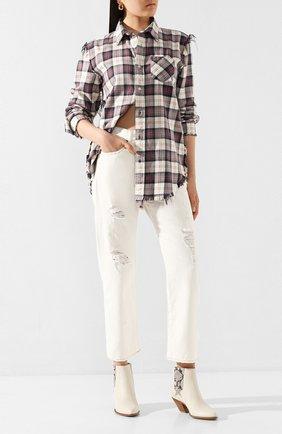 Женские джинсы R13 белого цвета, арт. R13W5083-058G | Фото 2