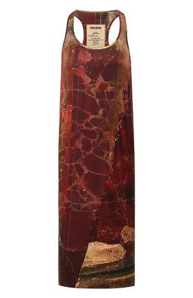 Женское шелковое платье UMA WANG бордового цвета, арт. P0 W UW5085 | Фото 1