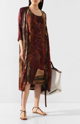 Женское шелковое платье UMA WANG бордового цвета, арт. P0 W UW5085 | Фото 2