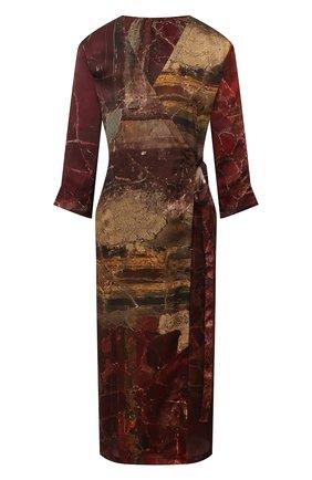 Женское шелковое платье UMA WANG бордового цвета, арт. P0 W UW5015 | Фото 1