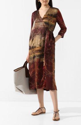 Женское шелковое платье UMA WANG бордового цвета, арт. P0 W UW5015 | Фото 2