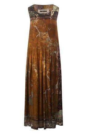 Женское шелковое платье UMA WANG зеленого цвета, арт. P0 W UW5003 | Фото 1