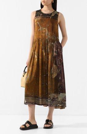 Женское шелковое платье UMA WANG зеленого цвета, арт. P0 W UW5003 | Фото 2