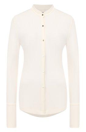 Женская рубашка из вискозы PETAR PETROV белого цвета, арт. CARLITA S20B4 | Фото 1