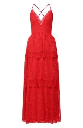 Женское платье-макси ERMANNO ERMANNO SCERVINO красного цвета, арт. 46T AB47 PIZ | Фото 1
