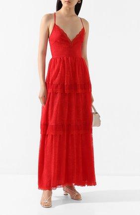 Женское платье-макси ERMANNO ERMANNO SCERVINO красного цвета, арт. 46T AB47 PIZ | Фото 2