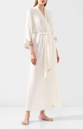 Женский халат RITRATTI MILANO кремвого цвета, арт. 71123 | Фото 2