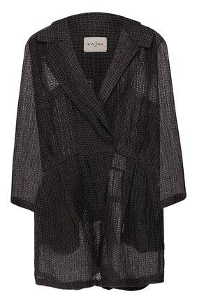 Женский льняной комбинезон LE KASHA темно-серого цвета, арт. DAHAB20   Фото 1