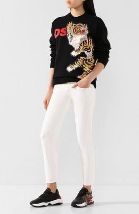 Женская хлопковый свитшот DSQUARED2 черного цвета, арт. S72GU0265/S25042 | Фото 2
