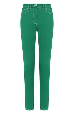 Женские джинсы BALMAIN зеленого цвета, арт. TF05460/D022 | Фото 1