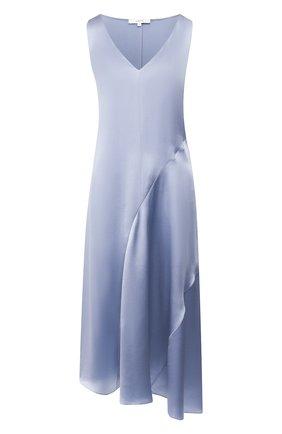 Женское шелковое платье VINCE синего цвета, арт. V651751136 | Фото 1