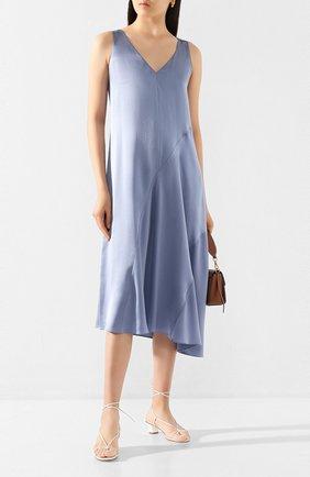 Женское шелковое платье VINCE синего цвета, арт. V651751136 | Фото 2