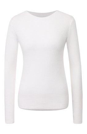 Женская хлопковый пуловер VINCE белого цвета, арт. V657078458 | Фото 1