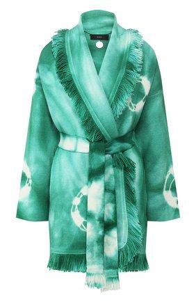 Женский шерстяной кардиган ALANUI зеленого цвета, арт. LWHB019S20KNI010 | Фото 1