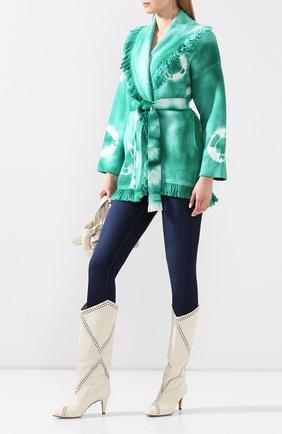 Женский шерстяной кардиган ALANUI зеленого цвета, арт. LWHB019S20KNI010 | Фото 2