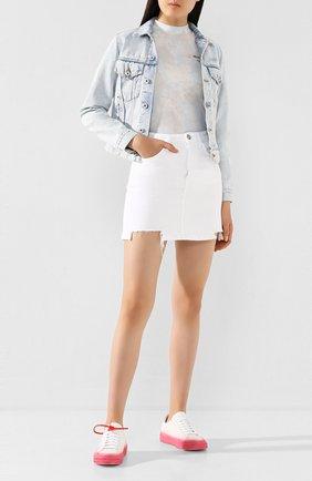 Женская джинсовая юбка 3X1 белого цвета, арт. WSXPS0952/WHITNEY | Фото 2