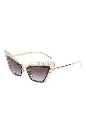 Мужские солнцезащитные очки DOLCE & GABBANA черного цвета, арт. 2254H-13348G | Фото 1