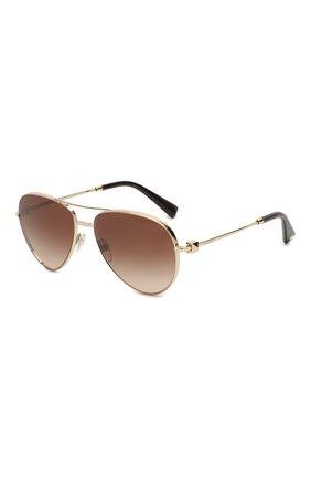 Мужские солнцезащитные очки VALENTINO коричневого цвета, арт. 2034-300313 | Фото 1