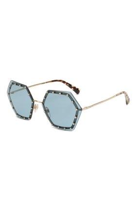 Мужские солнцезащитные очки VALENTINO голубого цвета, арт. 2035-300380 | Фото 1