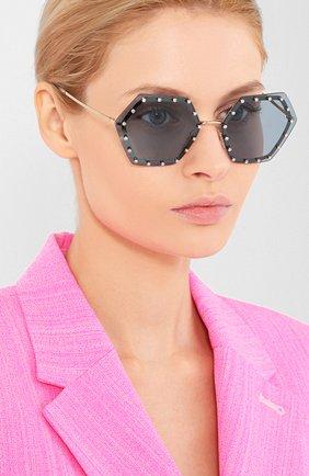 Мужские солнцезащитные очки VALENTINO голубого цвета, арт. 2035-300380 | Фото 2