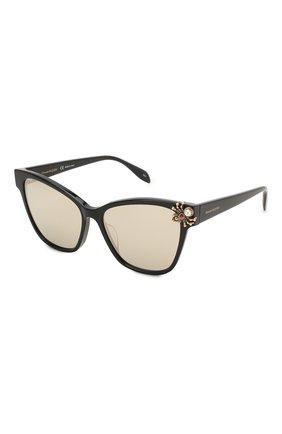 Мужские солнцезащитные очки ALEXANDER MCQUEEN черного цвета, арт. AM0269S-002 | Фото 1