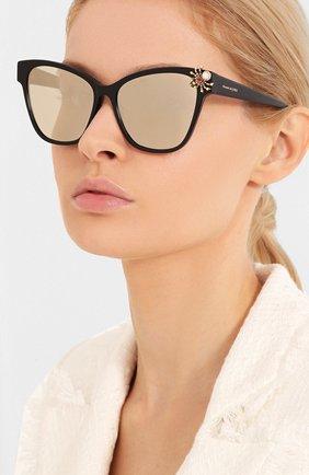 Мужские солнцезащитные очки ALEXANDER MCQUEEN черного цвета, арт. AM0269S-002 | Фото 2