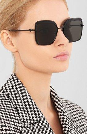 Женские солнцезащитные очки ALEXANDER MCQUEEN черного цвета, арт. AM0222SK-001 | Фото 2