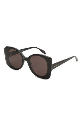 Женские солнцезащитные очки ALEXANDER MCQUEEN черного цвета, арт. AM0250S-001 | Фото 1