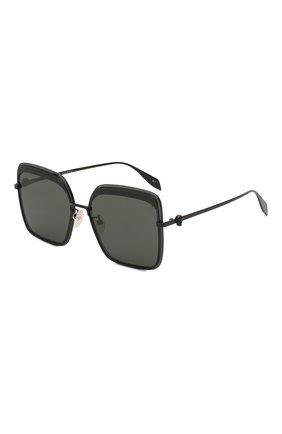 Мужские солнцезащитные очки ALEXANDER MCQUEEN черного цвета, арт. AM0222SK-001 | Фото 1