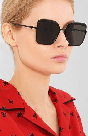 Мужские солнцезащитные очки ALEXANDER MCQUEEN черного цвета, арт. AM0222SK-001 | Фото 2