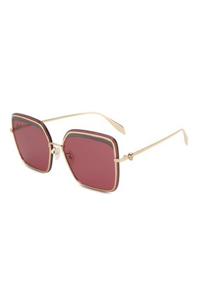 Мужские солнцезащитные очки ALEXANDER MCQUEEN розового цвета, арт. AM0222SK-003 | Фото 1