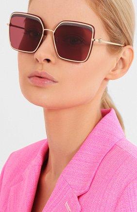 Мужские солнцезащитные очки ALEXANDER MCQUEEN розового цвета, арт. AM0222SK-003 | Фото 2